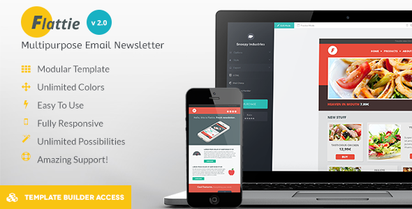 Flattie - Flat Responsive Email Template - Newsletters Email Templates