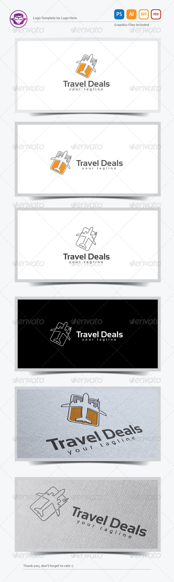 GraphicRiver Travel Deal Logo Template 8199026