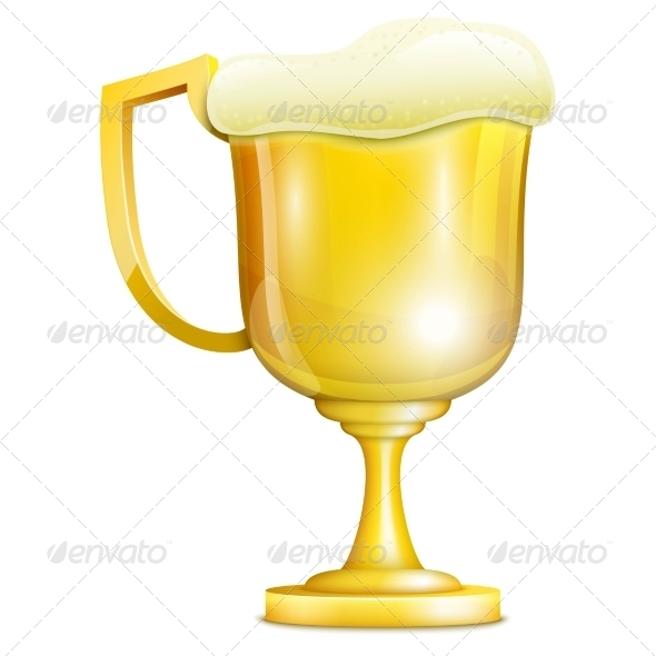 GraphicRiver Beer With Froth In Golden Mug 8209235