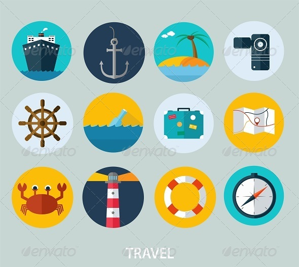 GraphicRiver Travel Icons 8209319