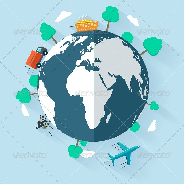 GraphicRiver Concept Delivering Goods Worldwide 8209340