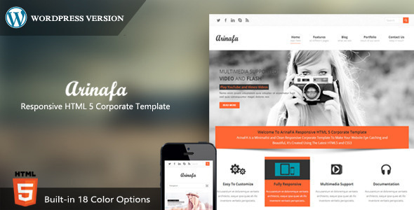 ThemeForest ArinaFA Corporate Wordpress Theme 8054192