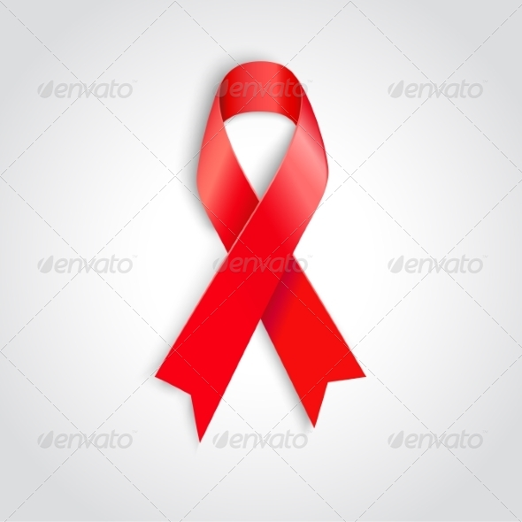 GraphicRiver AIDS Awareness Red Ribbon 8209537