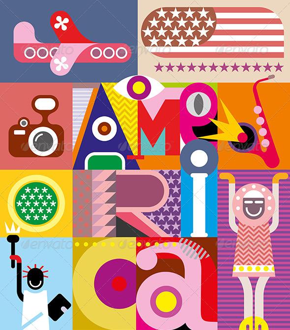 GraphicRiver America Text Design 8209753