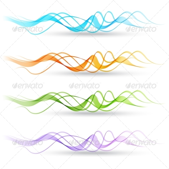 GraphicRiver Abstract Colorful Transparent Waves 8209776
