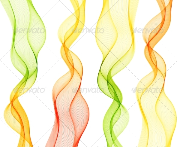GraphicRiver Abstract Colorful Transparent Wave 8209824