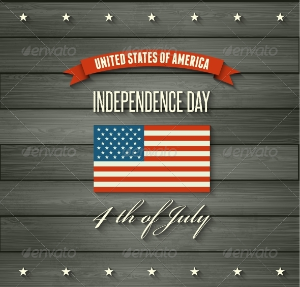American Independence Day Flat Design