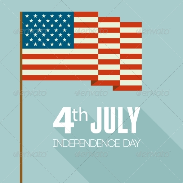 GraphicRiver American Independence Day Flat Design 8209831