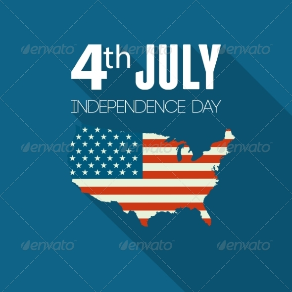 GraphicRiver American Independence Day Flat Design 8209832