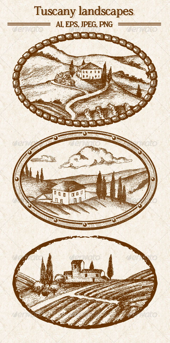 GraphicRiver Tuscany Landscapes 8210290