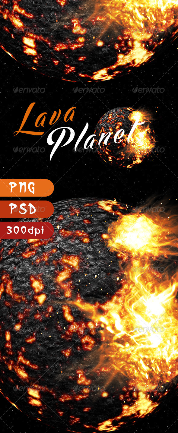 GraphicRiver Lava Planet 8210317