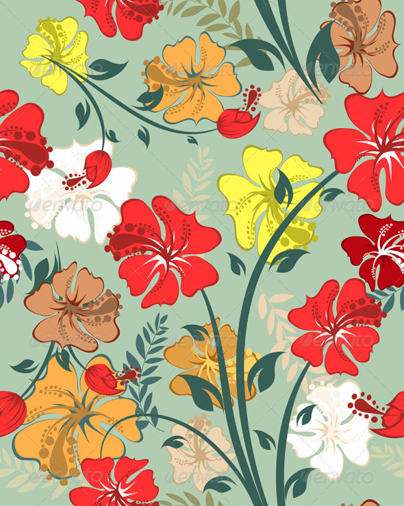 GraphicRiver Floral Seamless Pattern 8210321