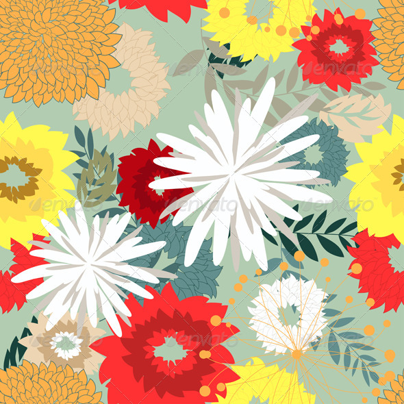 GraphicRiver Seamless Floral Pattern 8210325