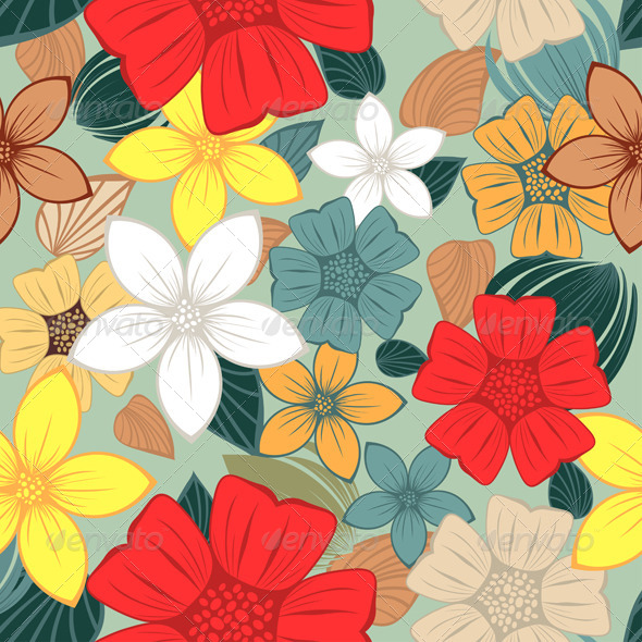 GraphicRiver Seamless Floral Pattern 8210326