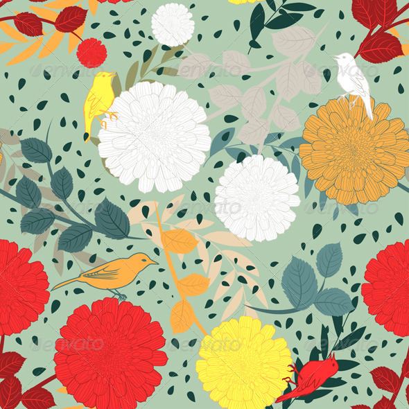 GraphicRiver Seamless Floral Pattern 8210327