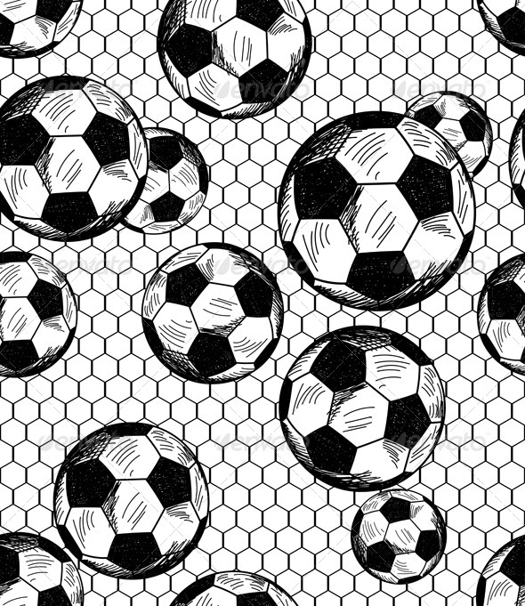 Football soccer Theme Seamless Pattern