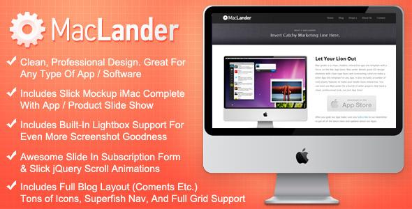 MacLander - Premium HTML App Site Template