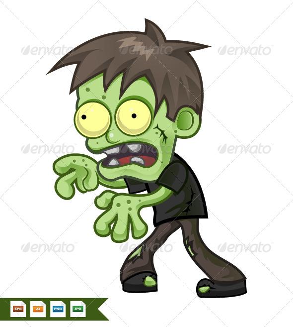 GraphicRiver Cartoon Zombie 8206973