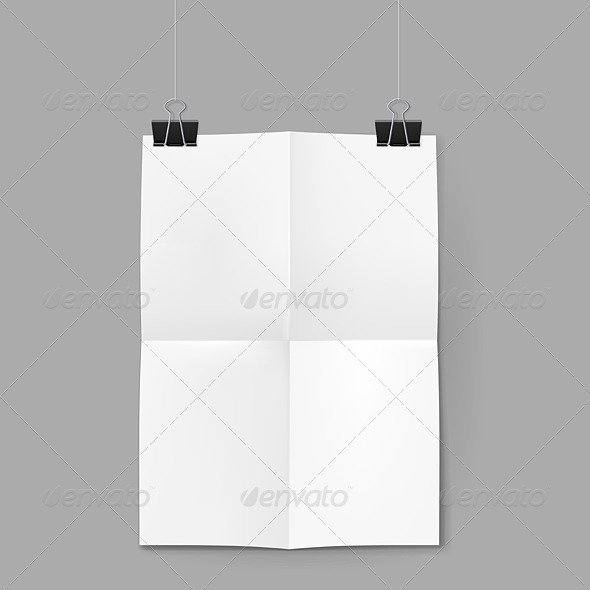 GraphicRiver White Sheet of Paper on Background 8210553