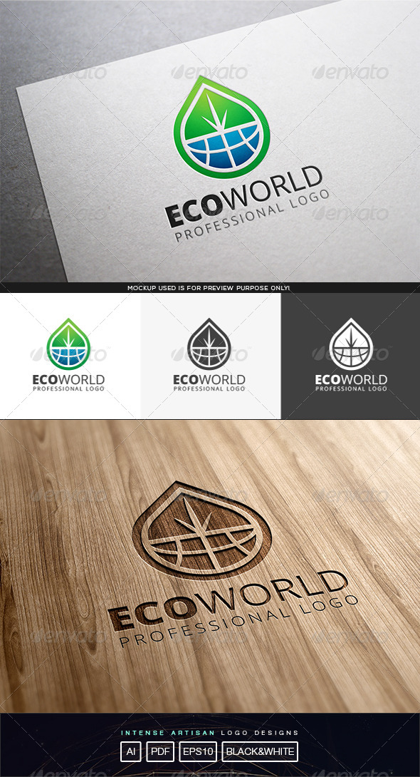 GraphicRiver Eco World Logo Template 8210579