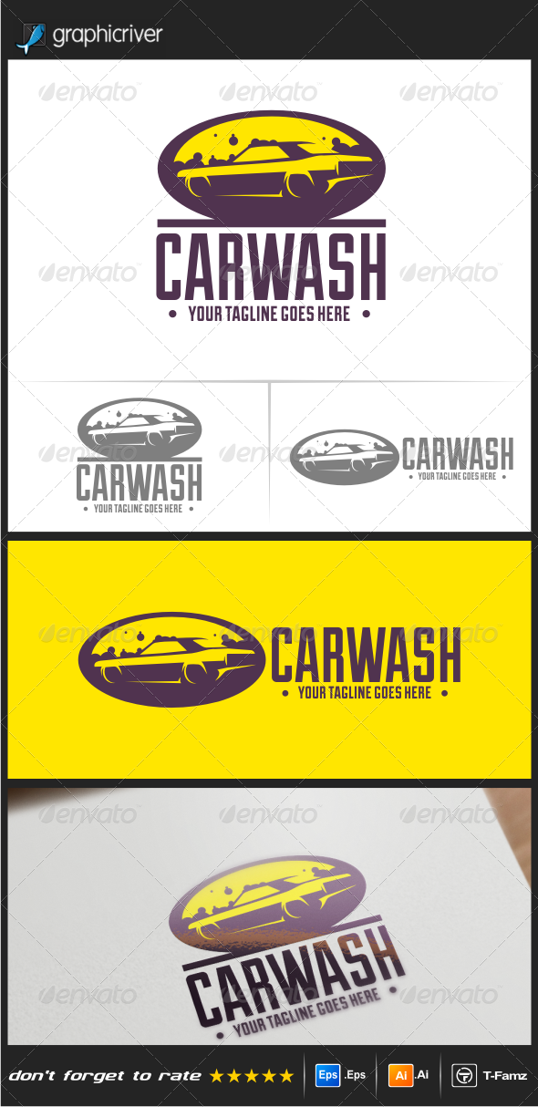 GraphicRiver Car Wash Logo Templates 8210583