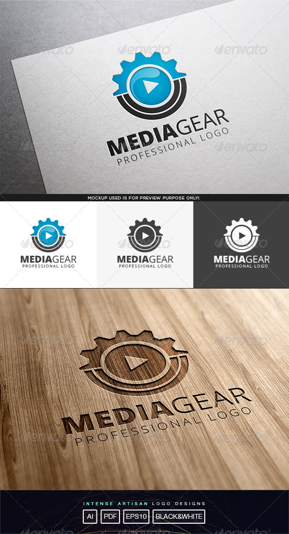GraphicRiver Media Gear Logo Template 8210643