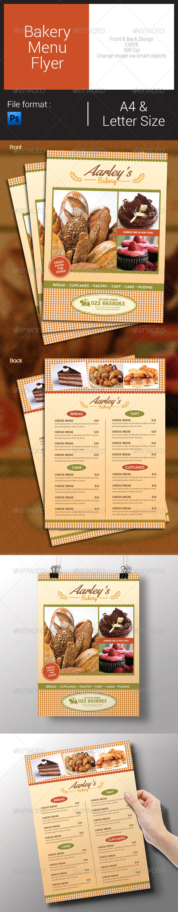 GraphicRiver Bakery Menu Flyer 8189094