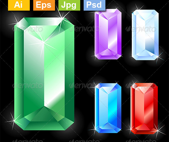GraphicRiver Rectangular Jewels 8210842