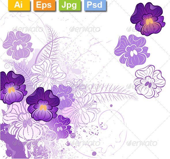 GraphicRiver Stylized Violets 8210855