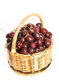 Wicker basket full of cherry berries - PhotoDune Item for Sale