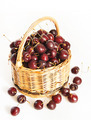 Wicker basket full of ripe cherry - PhotoDune Item for Sale