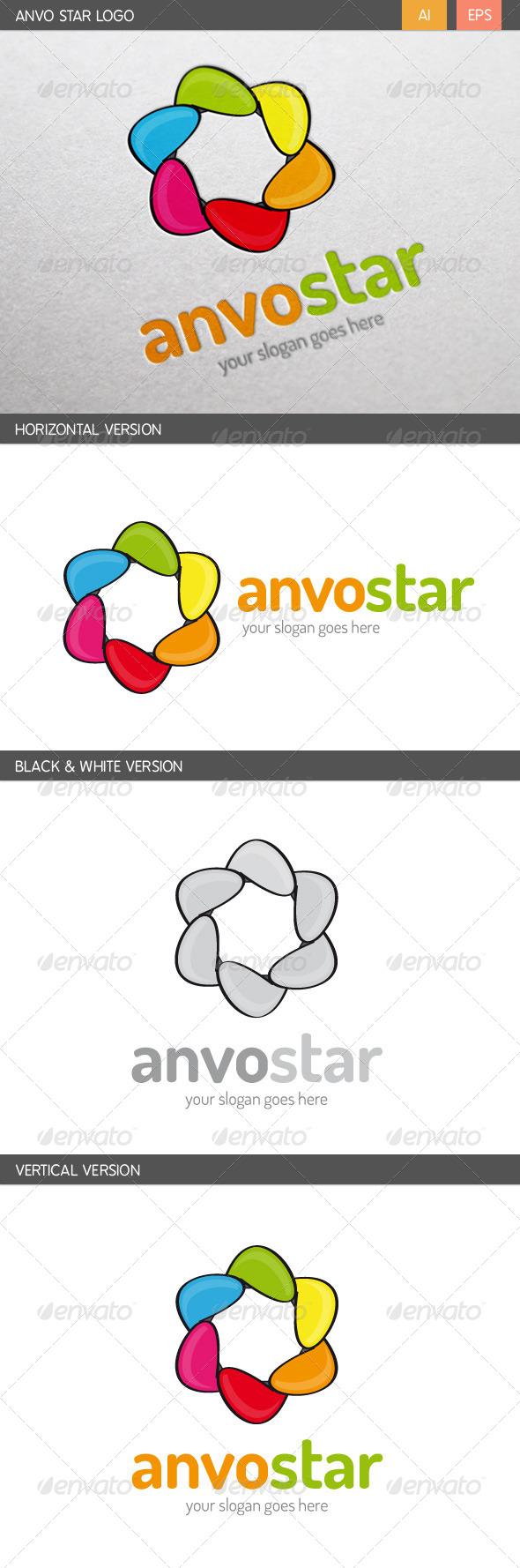 GraphicRiver Anvo Star Logo 8212069