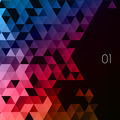 Abstract polygonal triangles poster. - PhotoDune Item for Sale