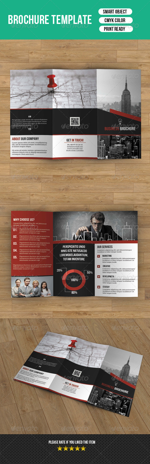 GraphicRiver Creative Trifold Business Brochure-V31 8215070