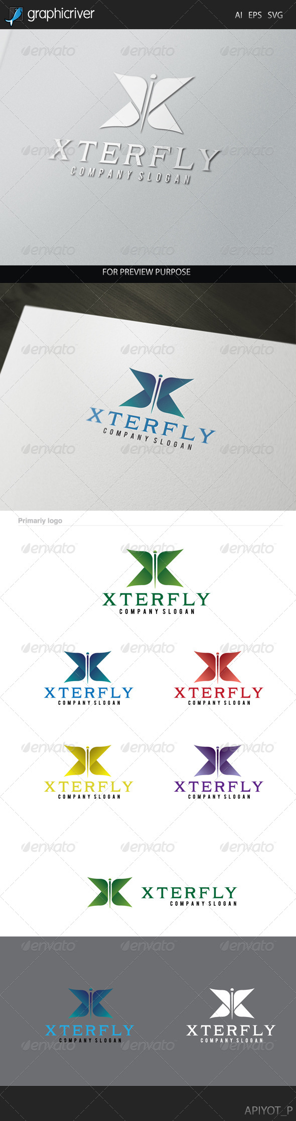 GraphicRiver Xterfly Logo 8215299