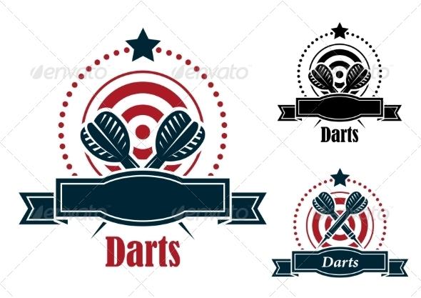 GraphicRiver Darts Emblem 8215330