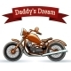 Colored Retro Motorcycle Design - GraphicRiver Item for Sale