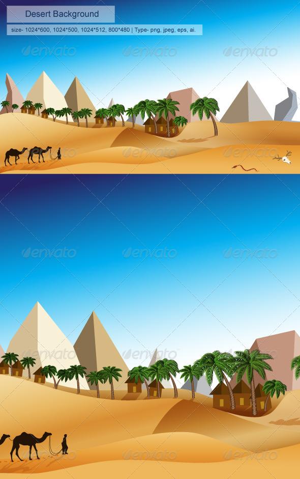 GraphicRiver Desert Background 8215670