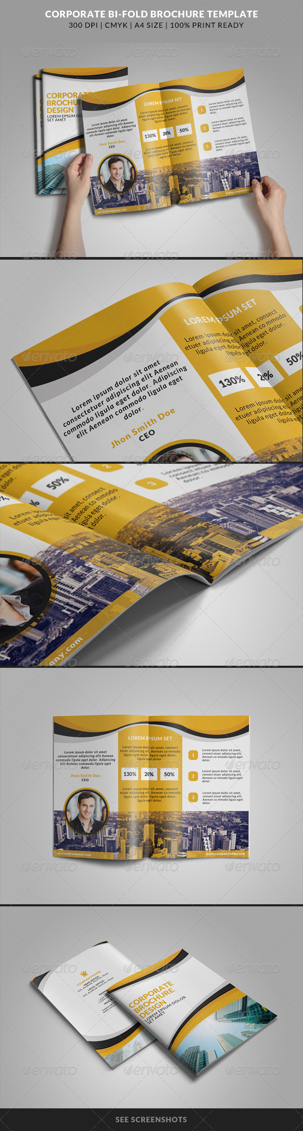 GraphicRiver Corporate Bi-Fold Brochures Template 3 8215677