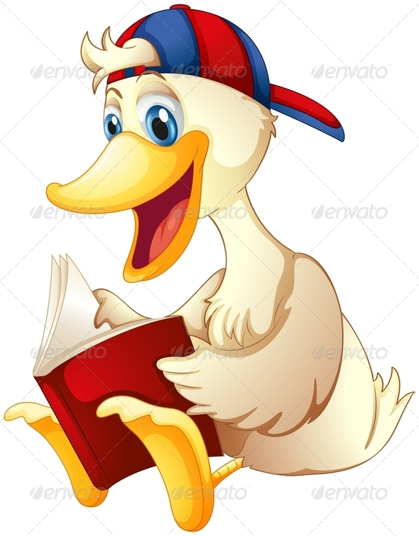 GraphicRiver Duck Reading a Book 8215781