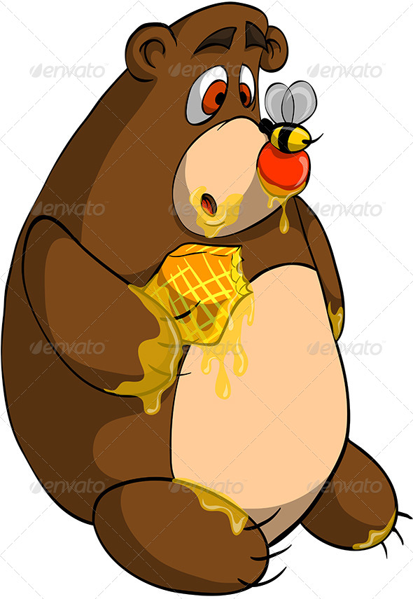 GraphicRiver Bear and Bee 8215803