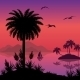Tropical Sea Landscape with Palms and Ship - GraphicRiver Item for Sale