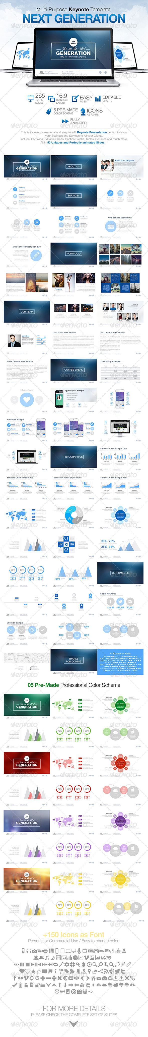 GraphicRiver Next Generation Multi Purpose Keynote Template 8190280