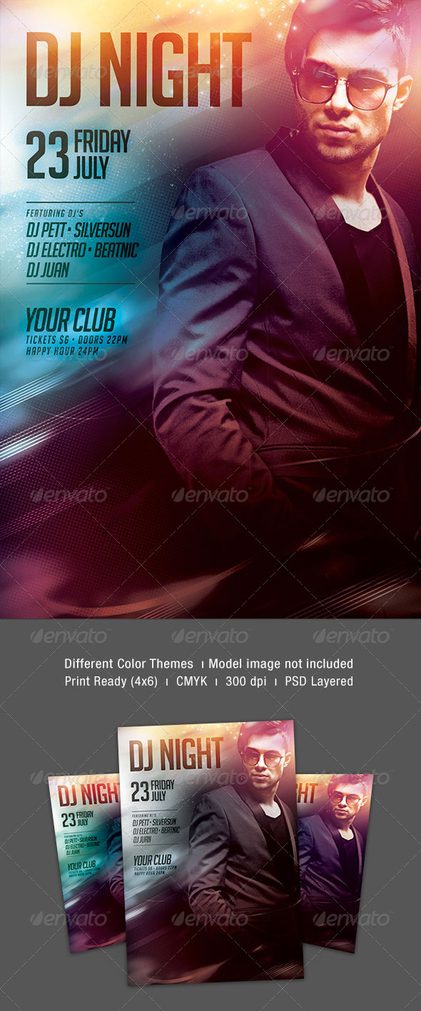 GraphicRiver Dj Night Flyer 8216012