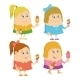Girls eating Ice Cream - GraphicRiver Item for Sale