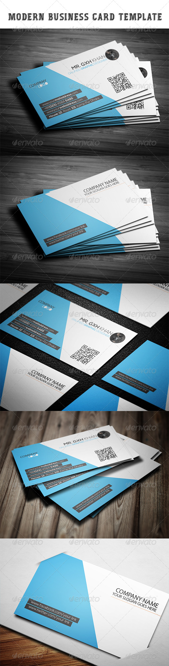 GraphicRiver Modern Business Card Template 7389180