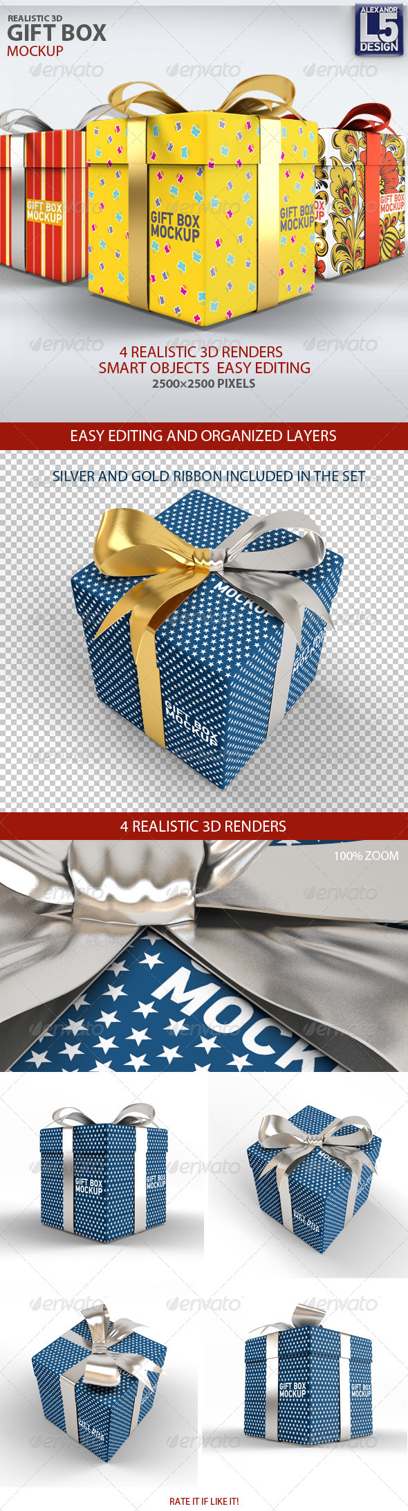 GraphicRiver Gift Box Mock-Up 8216044