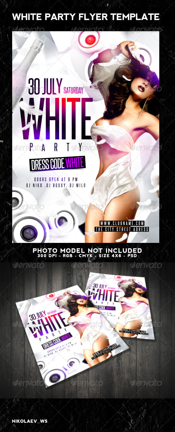 GraphicRiver White Party Flyer 8166712