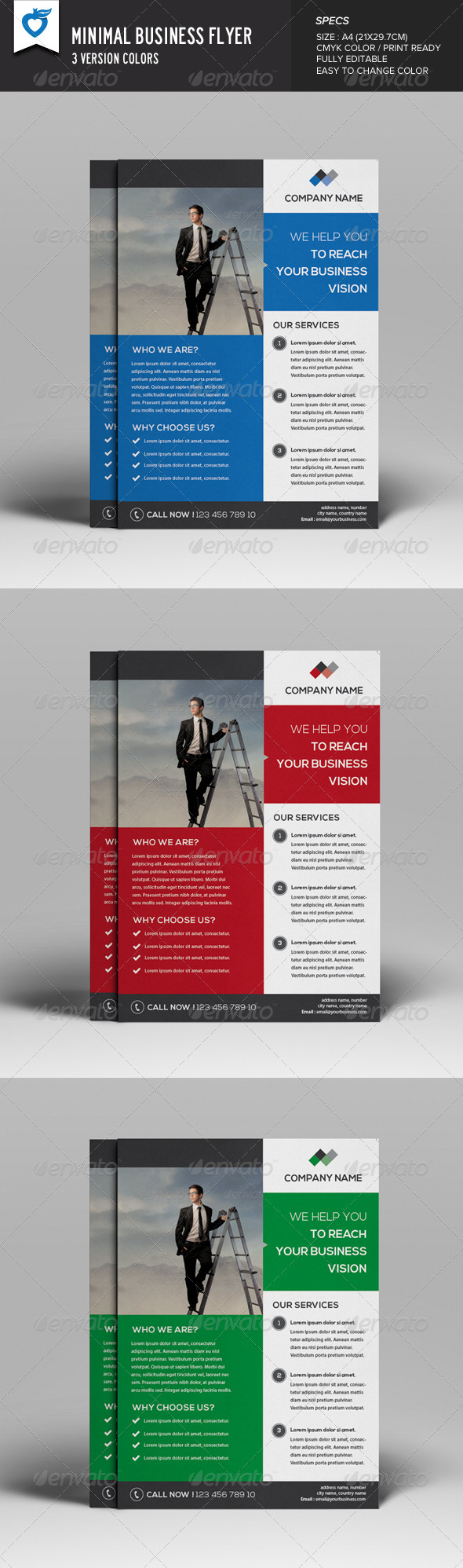GraphicRiver Minimal Business Flyer 8216101