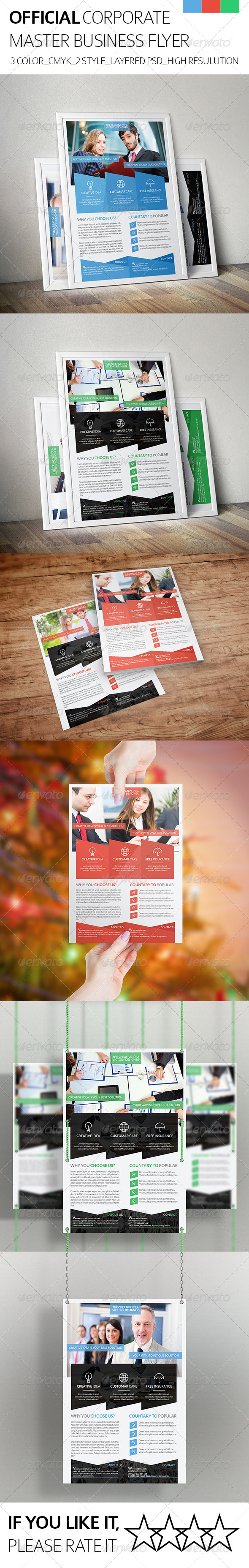 GraphicRiver Official & Corporate Business Flyer 8198803